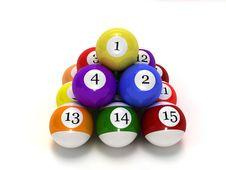 Pool Balls Stock Images