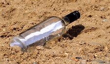 Free Message In A Bottle Stock Image - 6028911