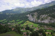 Free Summer Alpine Swiss Rural Landscape Stock Image - 6029701