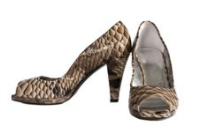 Beautiful Fashionable Female Shoes From A Leather Royalty Free Stock Photos
