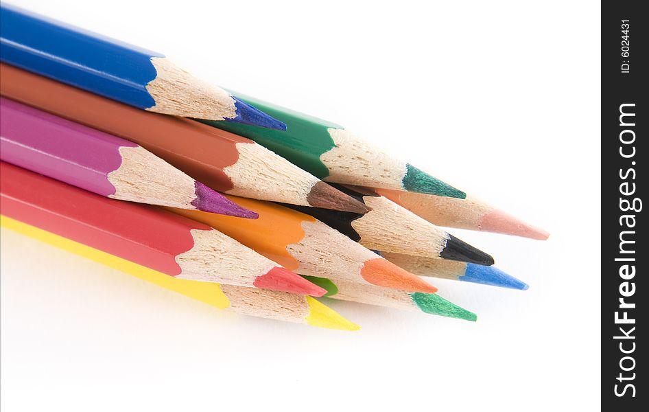 Vibrant coloring pencils