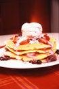 Free Fruit Pancake Stack With Ice-cream Royalty Free Stock Images - 6034149
