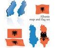 Free Albania Map And Flag Set Stock Photography - 6034282