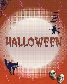 Free Halloween Frame Royalty Free Stock Photos - 6030738