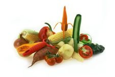 Carrots And Vegetables Royalty Free Stock Photo