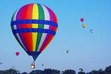 Free Bright Hot Air Balloons Stock Photo - 6030900