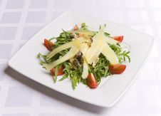 Free Salad With Cheese And Vegetables Royalty Free Stock Photo - 6031485