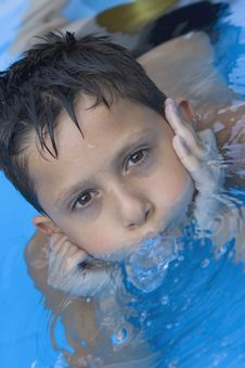 Free Young Boy In Pool Stock Photo - 6031550