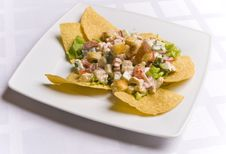 Free Salad Decorated With Nachos Royalty Free Stock Photos - 6031608