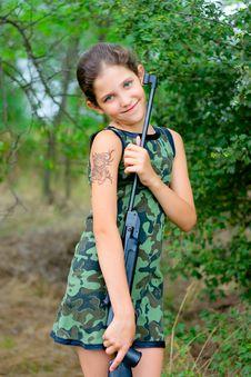 Free Beauty Teen Girl On Nature Stock Photos - 6031983