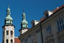 Free Two Towers Of Catholic Church , Krakow, Poland Royalty Free Stock Photos - 6032078