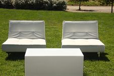 Outdoor Sitting Area Royalty Free Stock Photo