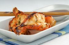 Delicious Grilled Shrimp Royalty Free Stock Photo