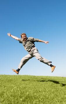 Free Happy Jumping Man Royalty Free Stock Image - 6032606