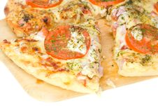 Close-up Piece Of Pizza Royalty Free Stock Photography