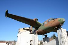 Free Old Plane In Pescina, Abruzzo. Stock Image - 6034471