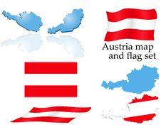 Free Austria Map And Flag Set Stock Image - 6034661