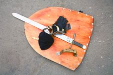 Shield And Sword Stock Photography
