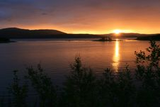 Free Midnight Sun In North Norway Stock Image - 6035021