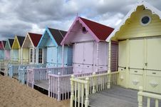 Free Beach Huts Royalty Free Stock Photos - 6035148