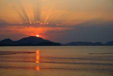 Free Sunset Of Koktebel In Ukraine Royalty Free Stock Image - 6035316