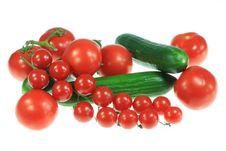 Free Tomatoes And Cucumbers. Stock Photography - 6035402