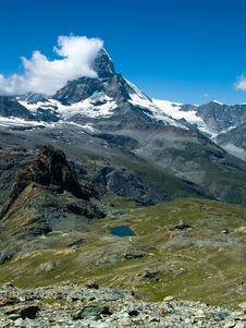 Monte Cervino (Matterhorn) Stock Image