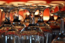 Empty Wine Glasses Stock Photography