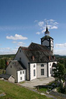 Røros  Church Royalty Free Stock Photography
