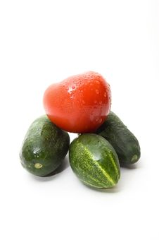 Free Cucumbers And Tomato Stock Photo - 6037080