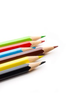 Free Colorful Pencils Royalty Free Stock Photos - 6037128