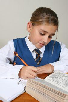 Free School Girl Royalty Free Stock Image - 6038276