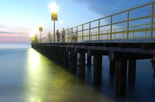 Free Sea By Night Stock Photography - 6038332