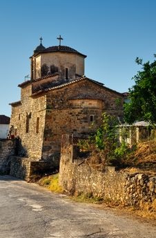 Free Chuch In A Greek Village Royalty Free Stock Photos - 6038388
