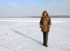 Free Standing On A Frozen Lake Stock Photos - 6038413