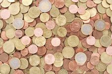 Free Background Of Euro Coins Stock Image - 6038551