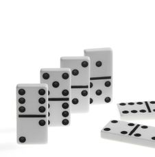 Free Dominoes On White Backgroun Stock Photos - 6038613