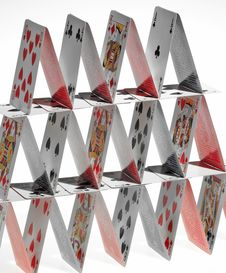 Free Cards Tower Royalty Free Stock Image - 6038826