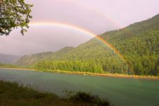 Free Rainbow Above River Royalty Free Stock Photo - 6038995