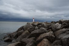 Free Lighthouse On The Shoreline Stock Images - 6039594