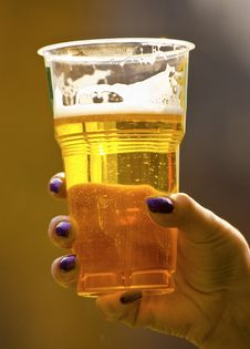 Free Glass Hand Beer Stock Photography - 6039602