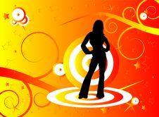 Free Orange Dance Royalty Free Stock Image - 6039676