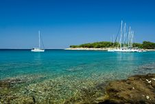 Free Sail Boats Docked In Beautiful Bay, Adriatic Sea, Royalty Free Stock Images - 6039729