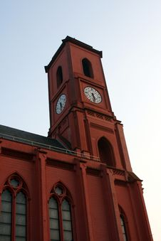 Free Red Clock Tower Stock Photography - 6039782