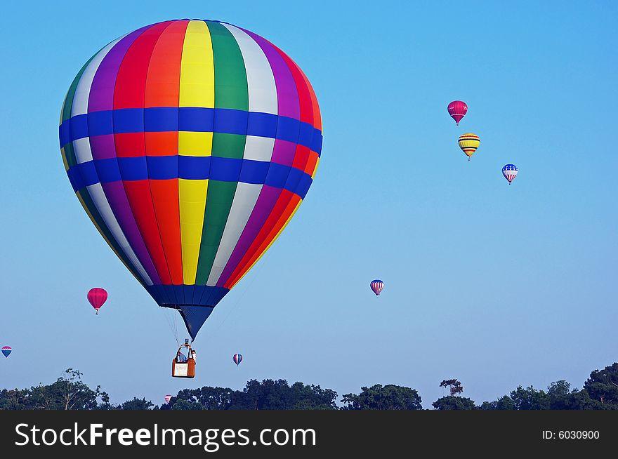 Bright Hot Air Balloons