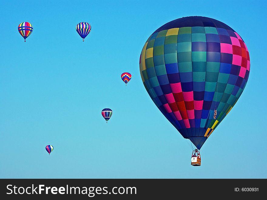 Colorful Hot Air Balloons