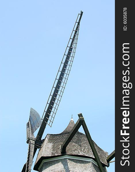 Detail of a tower mill in Copenhagen