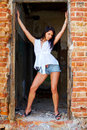 Free Attractive Lady In A Doorway Royalty Free Stock Image - 6049356