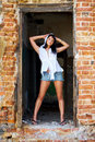 Free Attractive Lady In A Doorway Royalty Free Stock Photography - 6049367