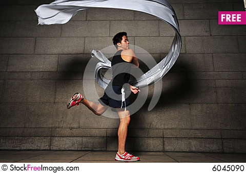 Free Man In Motion 1 Stock Photo - 6045090